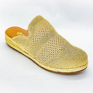 Tenis Slip On Mule Feminino Dourado