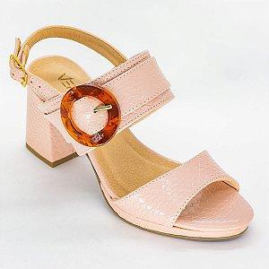 Sandalia de Salto Grosso Quadrado Rose