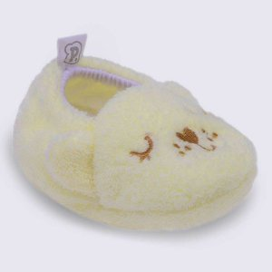 Pantufa infantil baby Pimpolho ursinho - bege