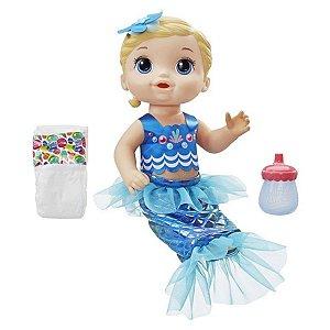Baby Alive Sereia azul Hasbro - loira