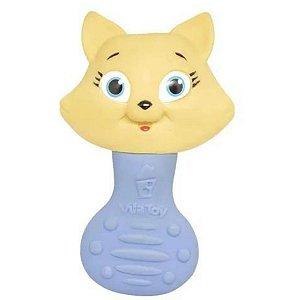 Chocalho Mordedor Vila Toy - Gatinho Azul
