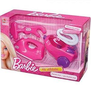 kit Utilidades Barbie Aspirador e Ferro Lider Brinquedos