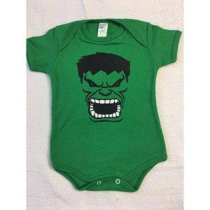 Body Estampado Linea Baby - Hulk verde
