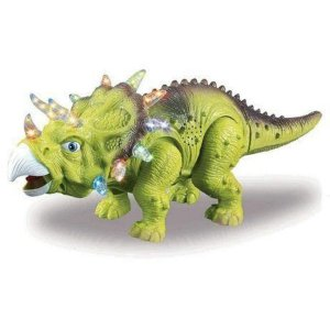 Dinossauro Tricerátopo Dm Toys - verde