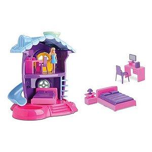 Casinha de Boneca Judy Quartinho Samba Toys