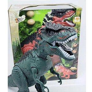Dinossauro Tiranossauro Com Som e Luz Dm Toys