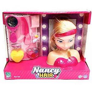 Boneca Nancy Hair Cabelo e Maquiagem Super Toys