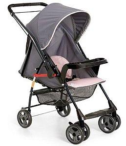 Carrinho de bebê Galzerano Sorano - grafite rosa