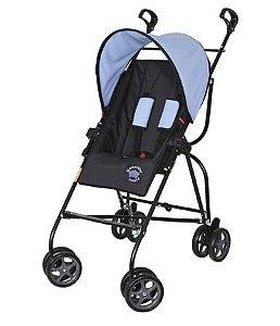 Carrinho de Bebê Galzerano Capri - preto e azul