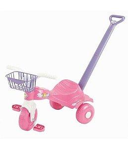 Triciclo Magic Toys tico tico Fani com empurrador e cestinha - rosa
