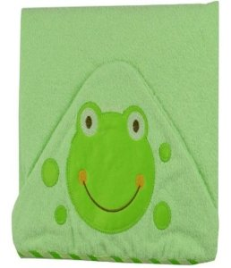 Toalha de banho Minasrey Carinhas com capuz felpa - sapinho