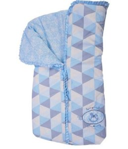 Porta bebê Minasrey com babado - azul