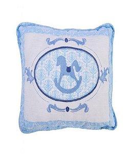 Travesseiro Minasrey Muito Mimo bordado - azul
