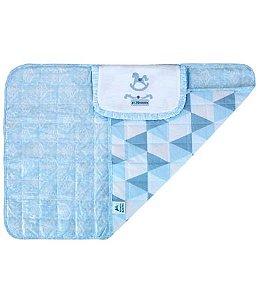 Trocador de fraldas Minasrey portátil - azul