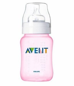Mamadeira Philips Avent Classic+260 ml 1+mês - rosa