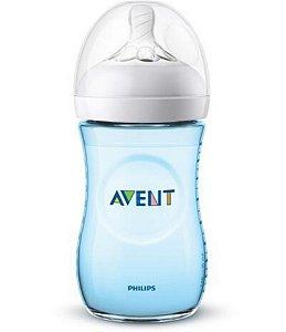 Mamadeira Philips Avent Pétala 260 ml 1+mês - azul