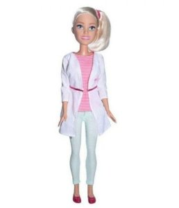 Boneca Barbie Pupee profissões Veterinária 67 cm - loira