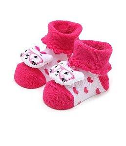 Meia Pimpolho bichinho feminina recém nascido - rosa