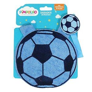 Babador divertido Pimpolho com prendedor - bola azul