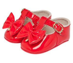Sapato infantil Pimpolho feminino verniz tamanho 1 - vermelho