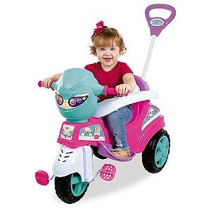 Triciclo Maral Baby City com pedal - rosa
