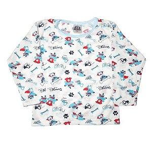 Pijama Jucatel infantil - doggy azul