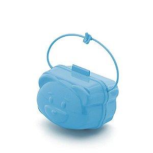Porta Chupeta Adoleta Urso - azul
