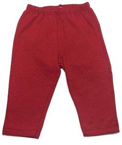 Calça Moletom Hrradinhos feminina com Patch Joaninha - vermelha