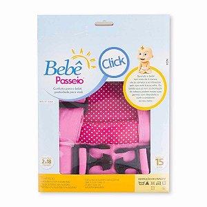 Canguru Bebê Passeio com fecho click - rosa