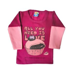 Conjunto Sorrimar Moletom feminino - cupcake