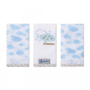 Kit Babete Minasrey Alvinha fralda - azul
