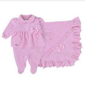 Saída de Maternidade Din Don feminina - rosa