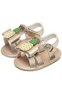 Sandália infantil Pimpolho Abacaxi - dourada