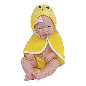 Boneca Cotiplás Love Born banho divertido - amarela