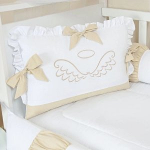 Kit de berço Tiquinho Baby Anjo - bege