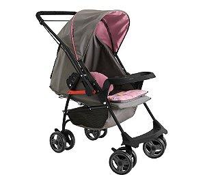 Carrinho de bebê Galzerano Milano reversível II - grafite rosa