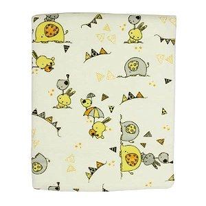 Cobertor infantil Papi Karinho estampado - amarelo