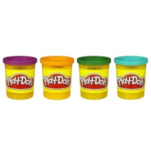 Massinha Play Doh Hasbro 4 potes - colorida
