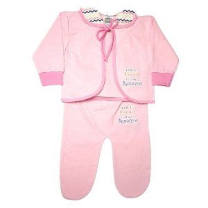 Pagão Feroz Baby 3 peças feminino - rosa