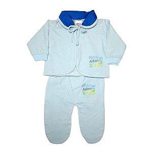 Pagão Feroz Baby 3 peças masculino - azul