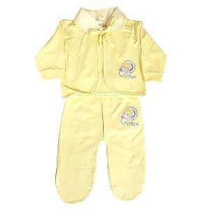 Pagão Feroz Baby 3 peças feminino - amarelo