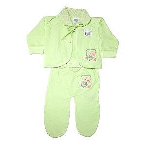 Pagão Feroz Baby 3 peças masculino - verde