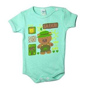 Body Linea Baby Manga Curta masculino - safari verde