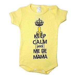 Body Linea Baby Manga Curta feminino - amarelo