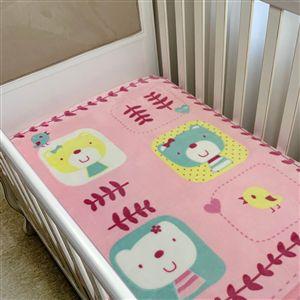 Cobertor infantil Corttex Raschel feminino - ursinhos rosa
