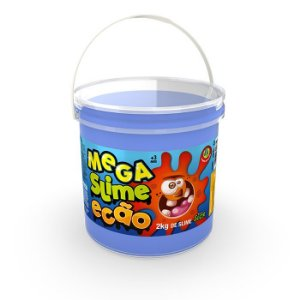 Mega Slime Dtc Ecão 2kg - azul