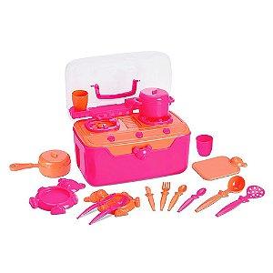 Fogão e Cia Roma Brinquedos maleta - rosa
