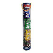 kit carrinhos tubo  fricção toyng avengers 4 unidades colorido