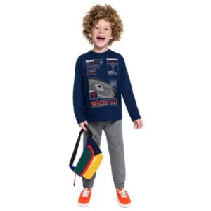 Conjunto Blusão Calça Jogger Masculino Juvenil Brandili