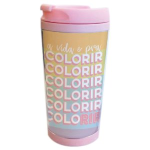 Copo térmico Colorir